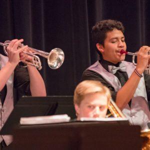 photo: Coal Ridge High School Jazz Band on stage